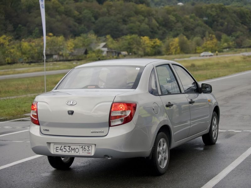 Rear view of Lada Granta