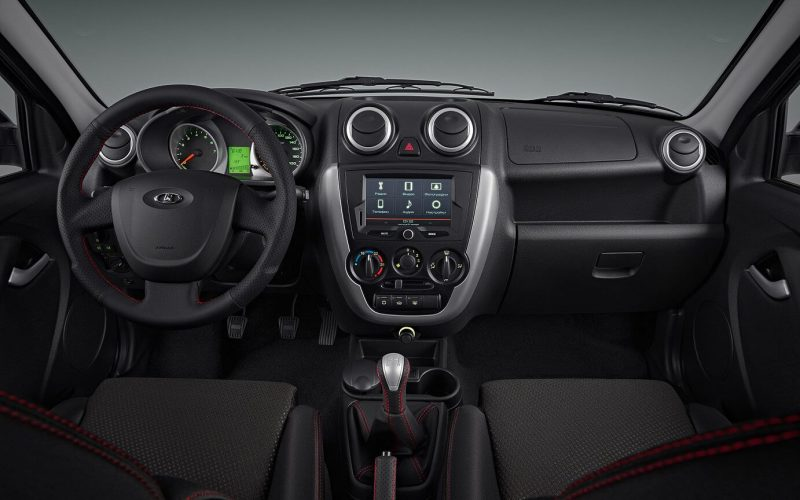 Interior of Lada Granta Sport