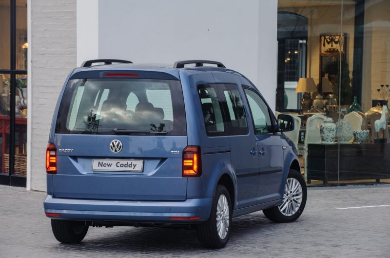Rear view of Volkswagen Caddy IV