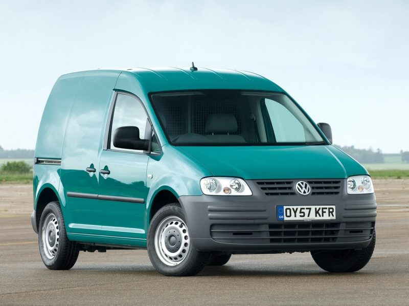 Front view of Volkswagen Caddy Kasten