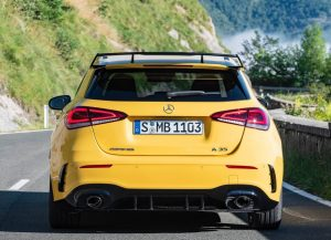Rear view of Mercedes-AMG A35