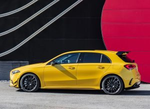 Side view of Mercedes-AMG A35