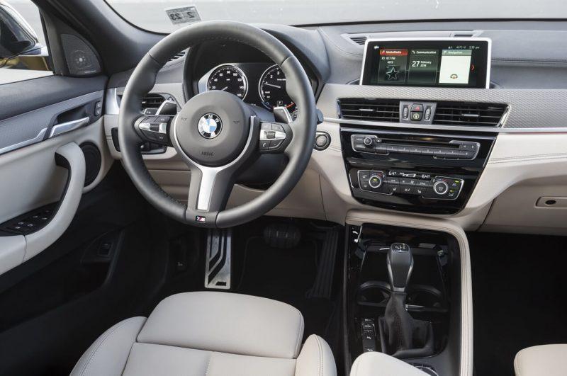 BMW X2 steering wheel