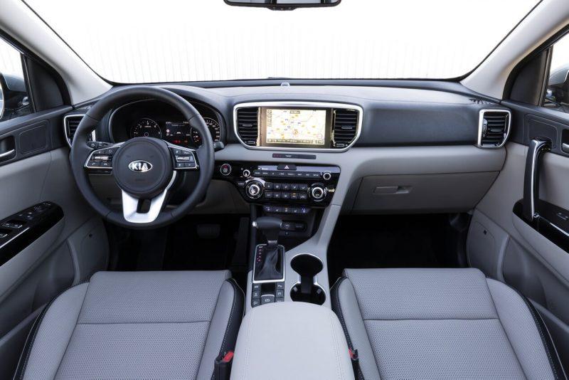 Interior of Kia Sportage 2018