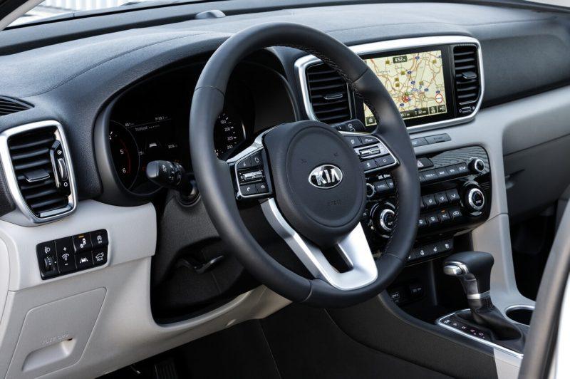 Kia Sportage steering wheel