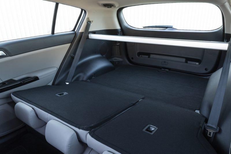 The trunk of Kia Sportage