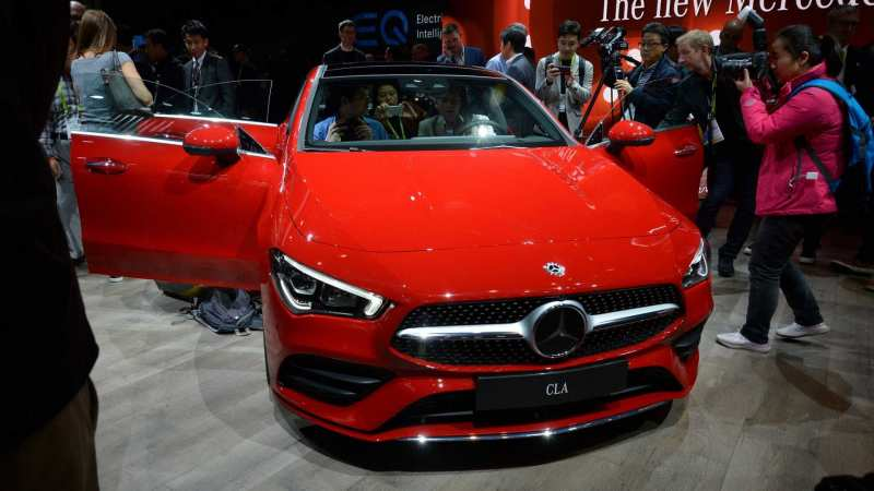 Front view of Mercedes-Benz CLA