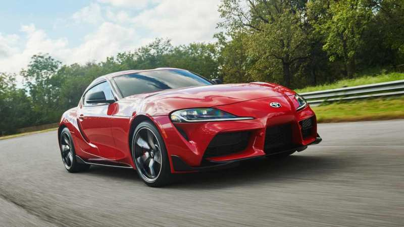 Front view of Toyota Supra