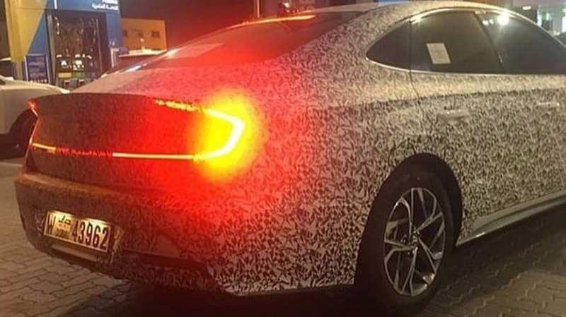 Behind Hyundai Sonata