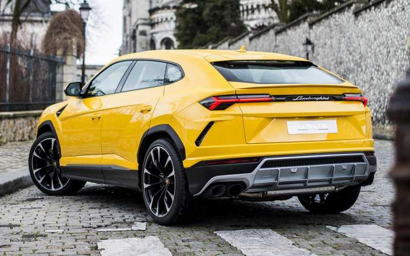 Rear View Lamborghini Urus