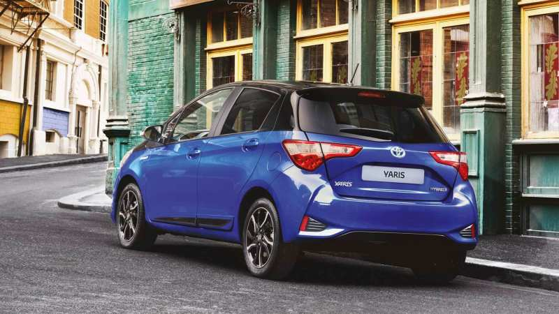 Rear view of Toyota Yaris