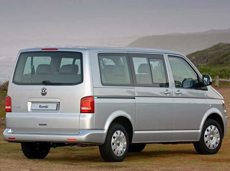 Back view of VW Transporter