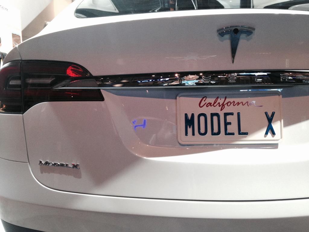 Tesla Model X 100D rear view