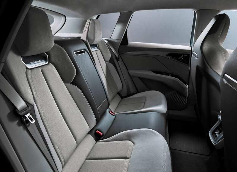 Audi Q4 e-tron back sofa