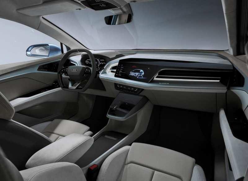 Audi Q4 e-tron salon