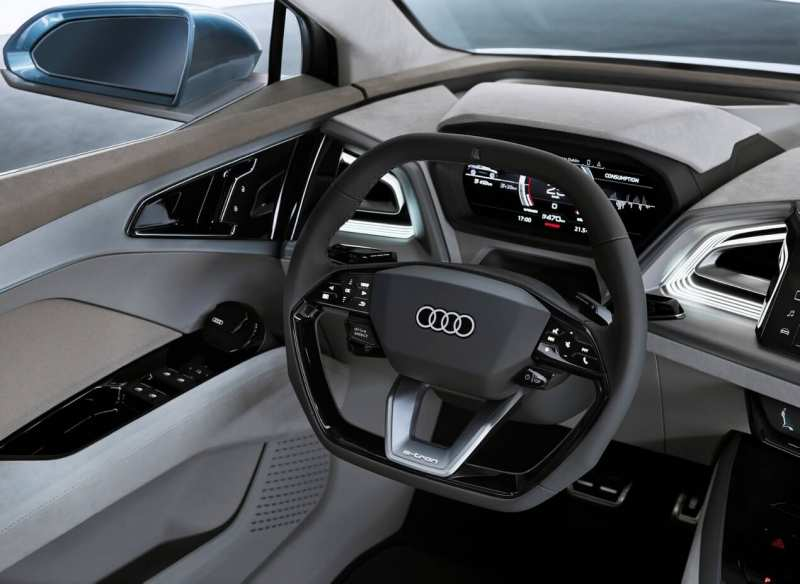 Audi Q4 e-tron steering wheel