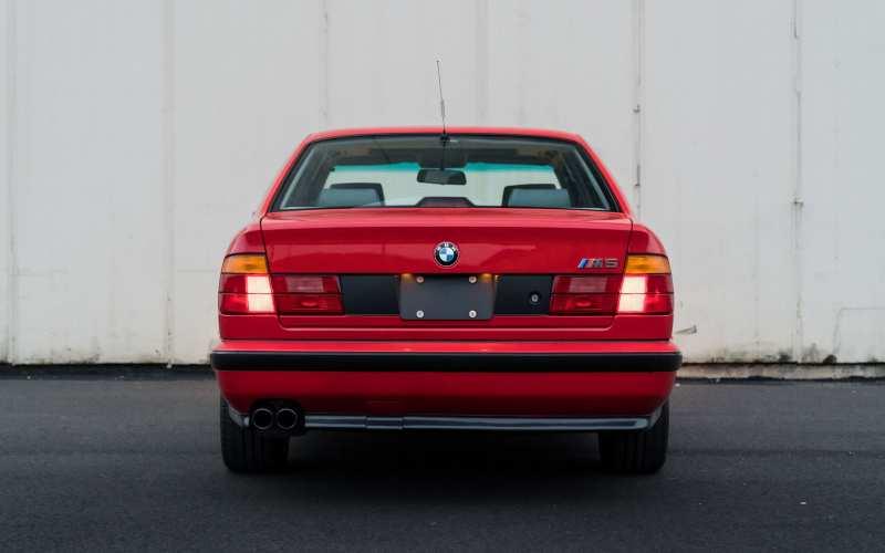 BMW M5 rear view