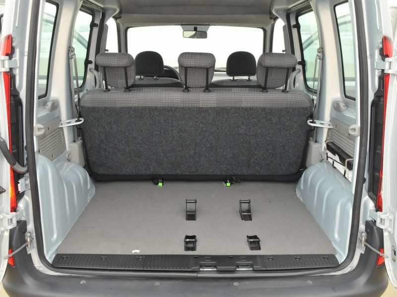 The trunk of the Renault Kangoo