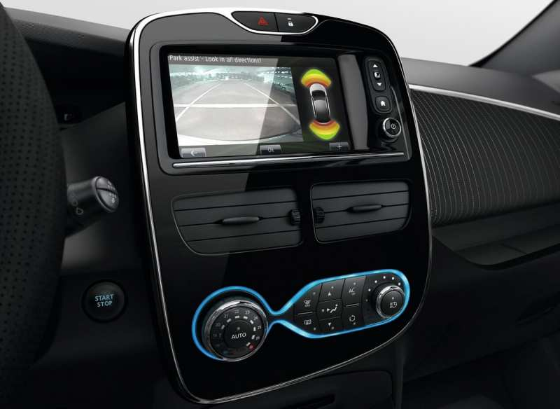 Renault ZOE touch screen display