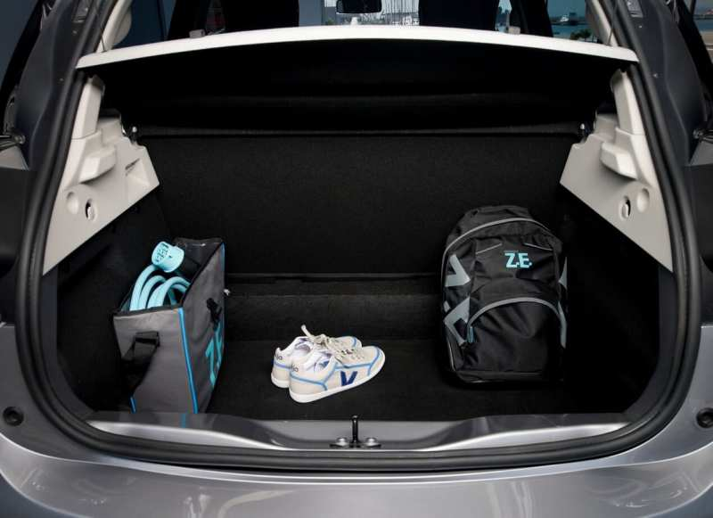 The trunk of Renault ZOE