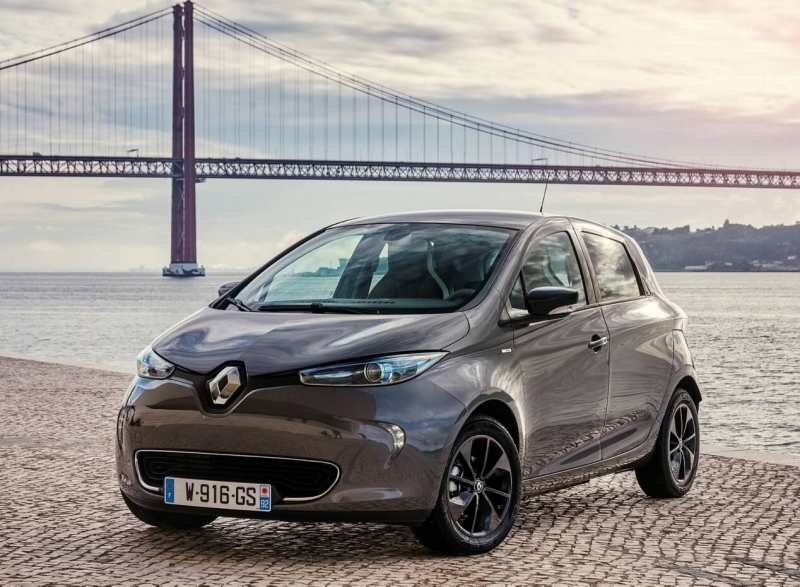 Front view of Renault ZOE