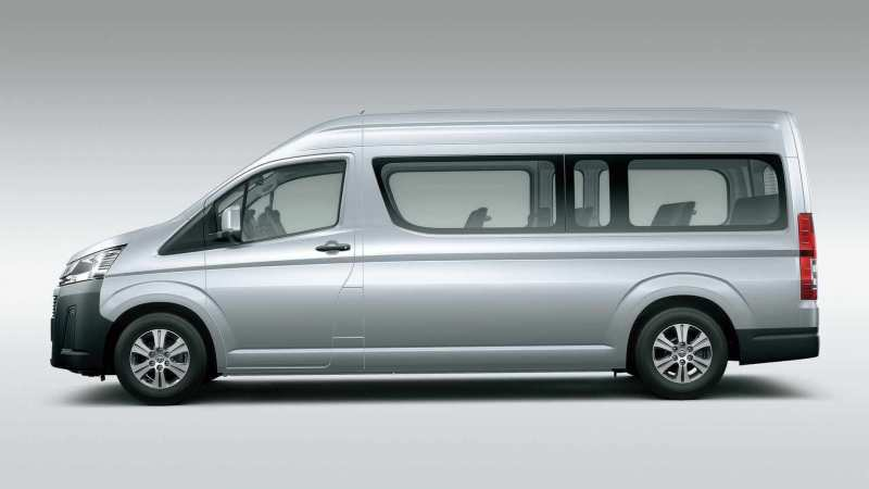 Side view of Toyota Hiace