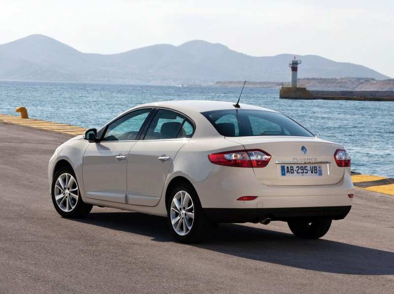 Rear view of Renault Fluence