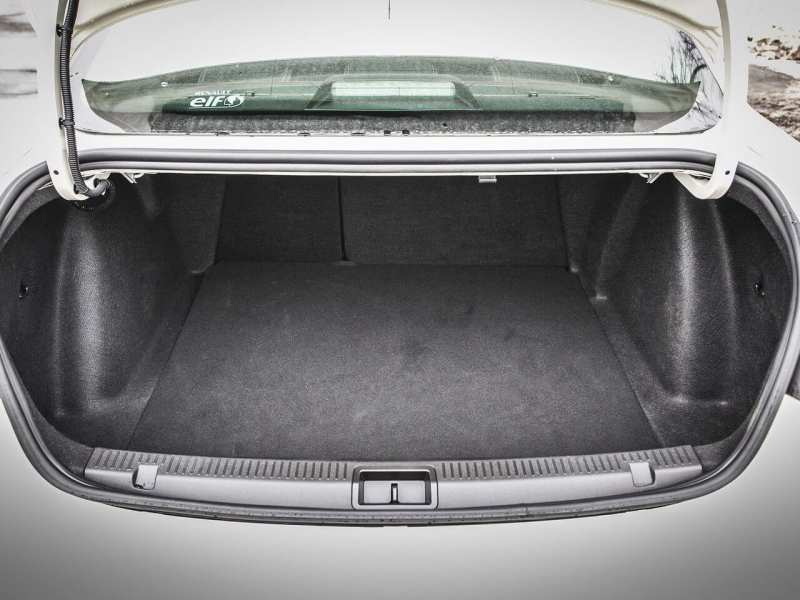 The trunk of Renault Fluence