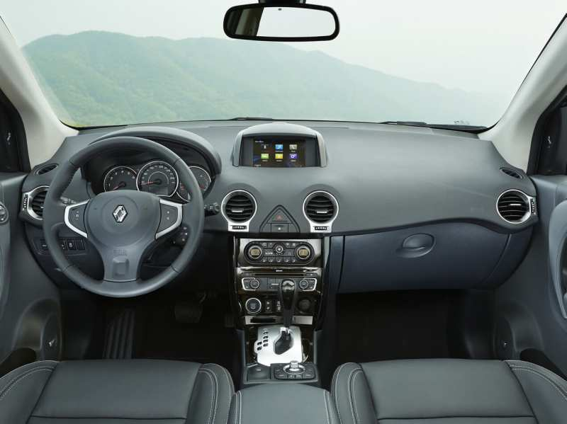 The interior of Renault Koleos
