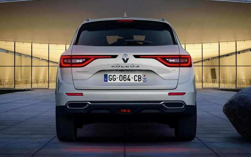 Rear view of Renault Koleos II