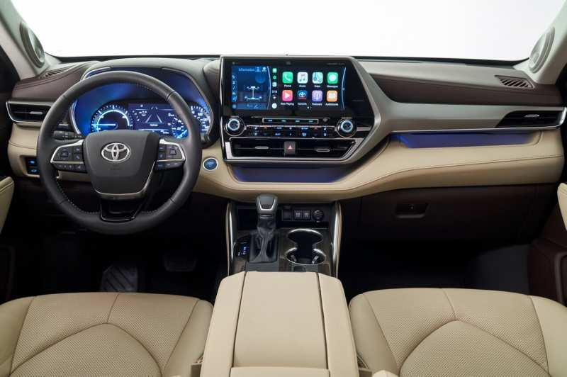 Interior of Toyota Highlander