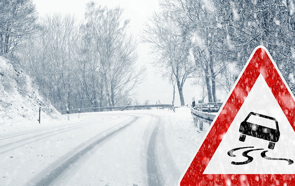 5 main rules when driving in ice