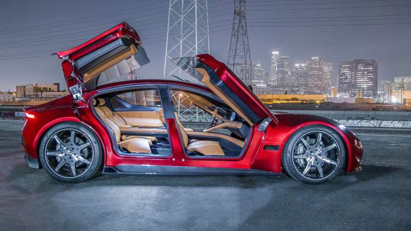 Side view of Fisker EMotion