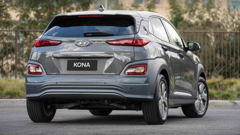 Rear view of Hyundai Kona Electric