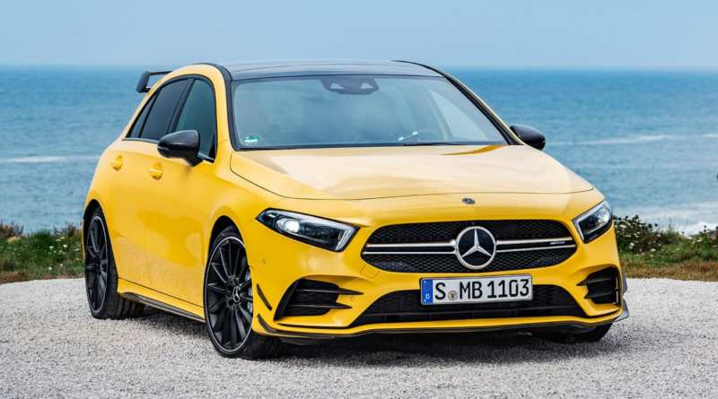 The younger brother of Mercedes AMG A35 is charged for speed