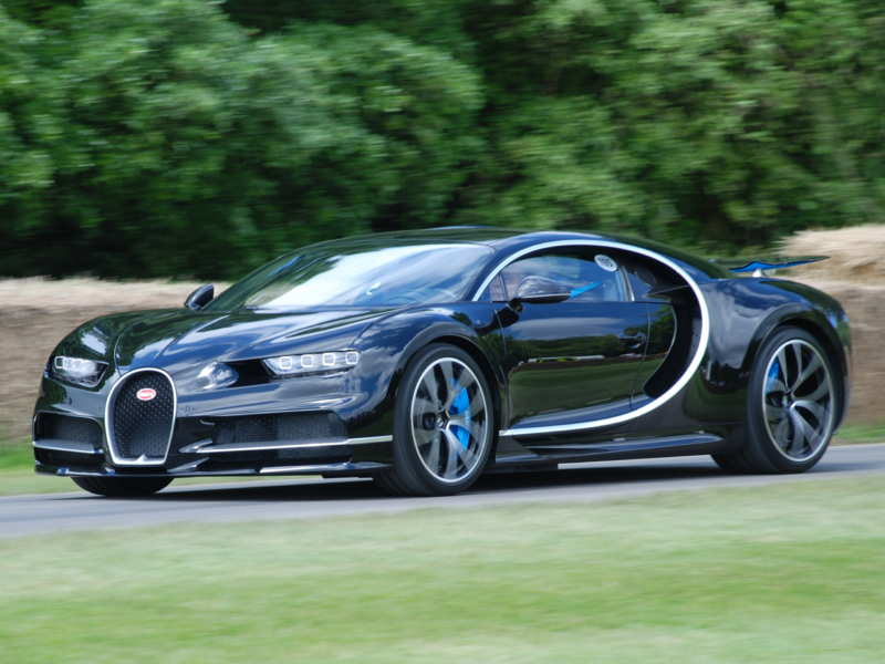 A Russian designer painted the Bugatti of the future
