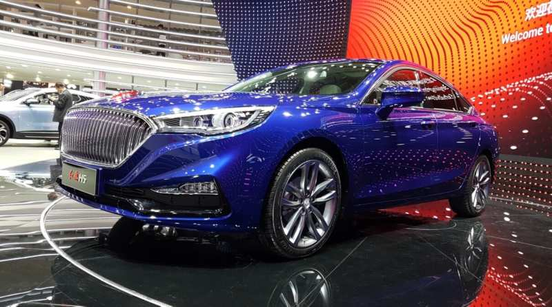 In Beijing, the Faw H5 is presented with a terrible road