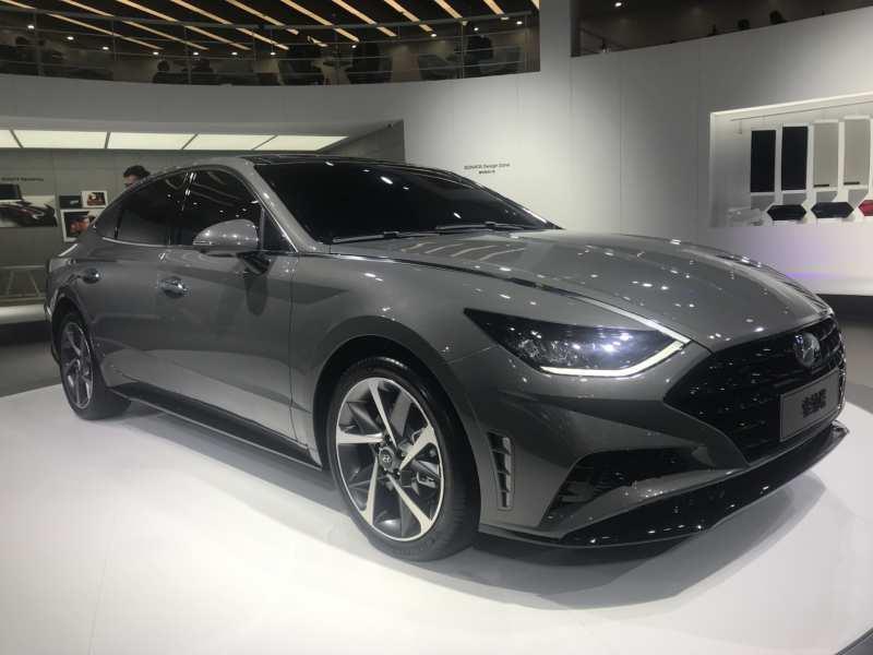 A portion of Hyundai Sonata spy photos