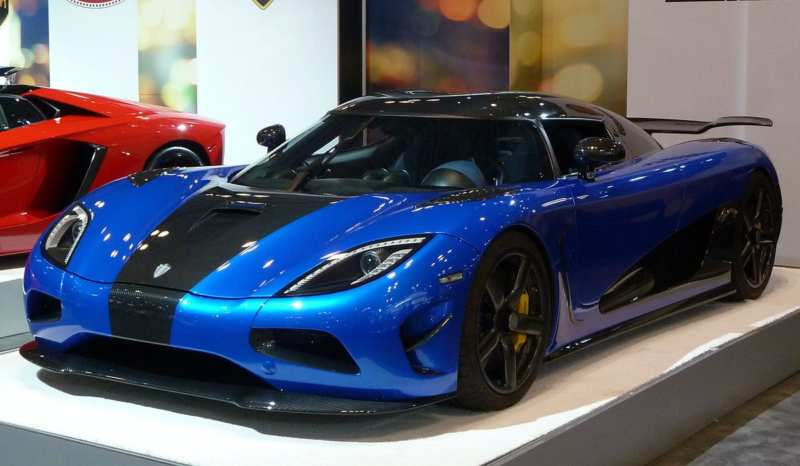 Koenigsegg supercar: it's the easiest way