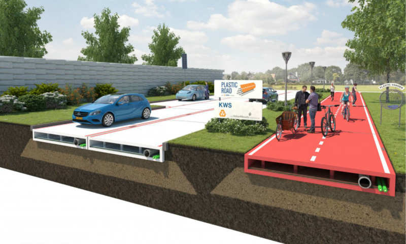 Plastic raw materials to replace asphalt in the Netherlands