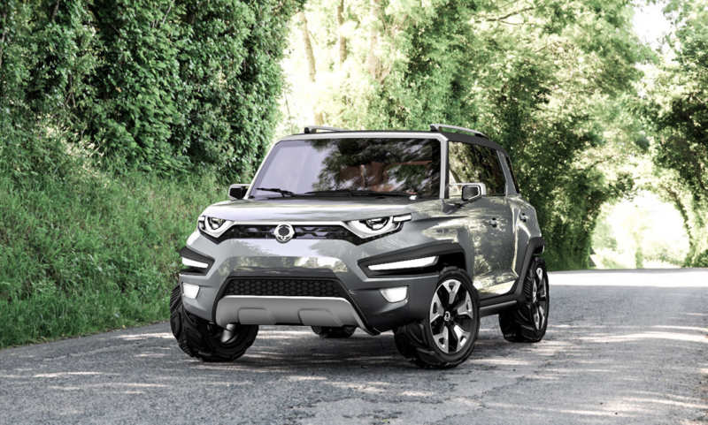 The most extraordinary appearance of the SsangYong XAV-Adventure concept car