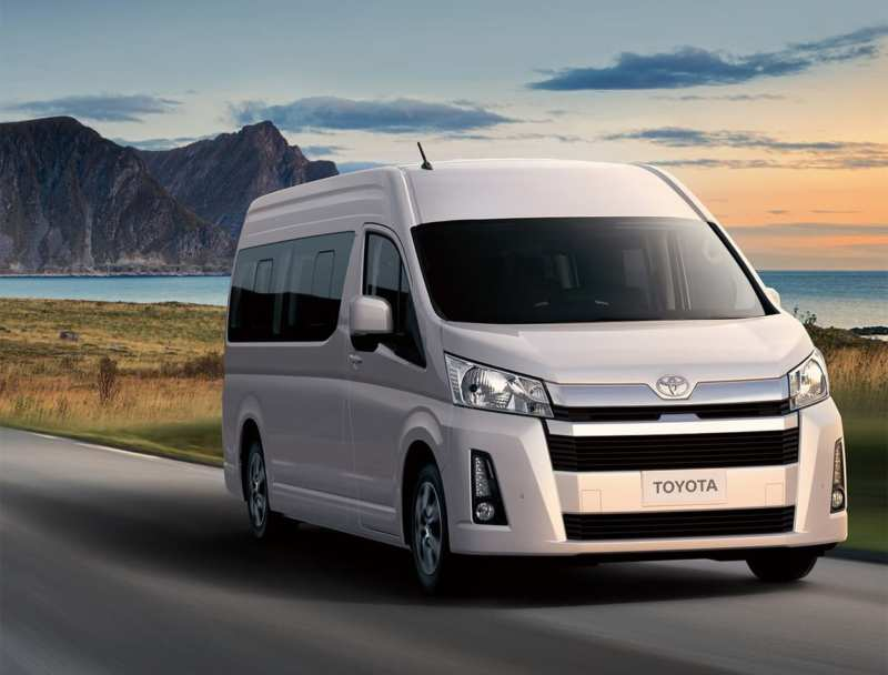Japanese company Toyota demonstrated a new minibus Hiace