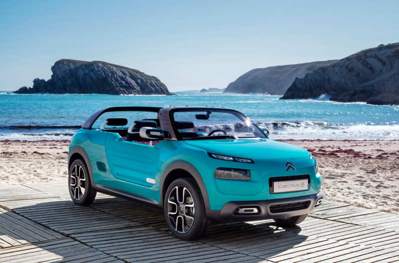 Citroen demonstrated the Cactus M convertible