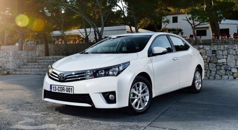 Front view of Toyota Corolla