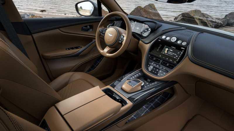 The interior of the Aston Martin DBX