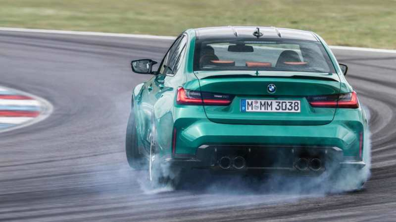 BMW M3 Competition rear view