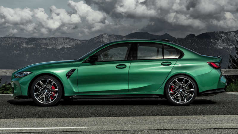 BMW M3 Competition side view