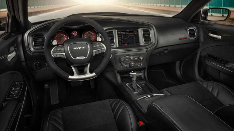 Interior of Dodge Charger SRT Hellcat