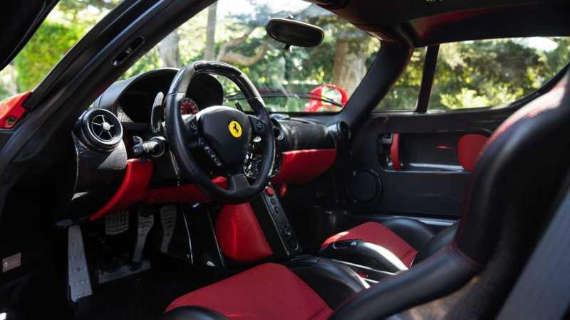 Interior of Ferrari Enzo