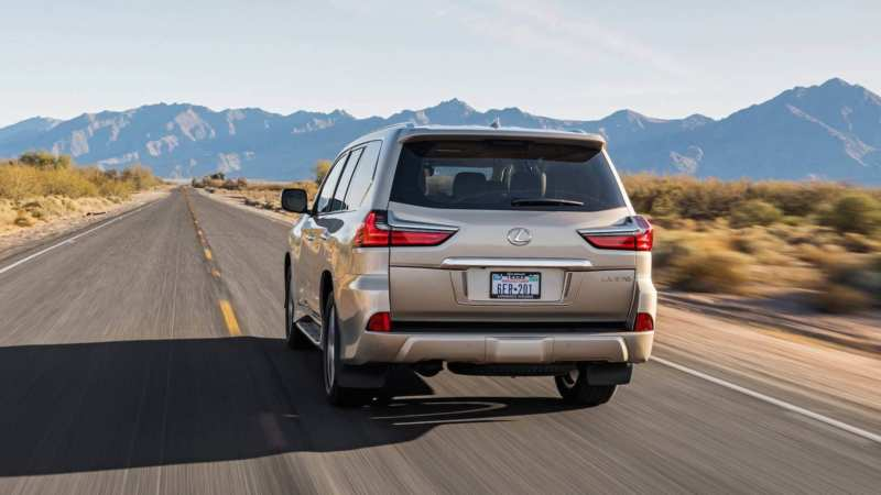 Lexus LX570 rear view